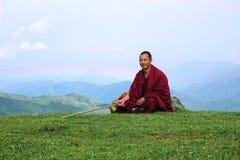 βουδιστικά βουνά μοναχών Στοκ φωτογραφία με δικαίωμα ελεύθερης χρήσης