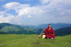 βουδιστικά βουνά μοναχών Στοκ εικόνα με δικαίωμα ελεύθερης χρήσης
