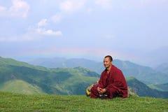 βουδιστικά βουνά μοναχών Στοκ Φωτογραφίες