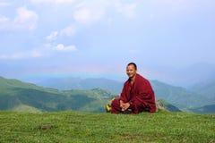 βουδιστικά βουνά μοναχών Στοκ φωτογραφίες με δικαίωμα ελεύθερης χρήσης