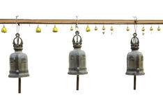 Βουδιστικά κουδούνια σε Wat Saket (το χρυσό υποστήριγμα), Μπανγκόκ Στοκ Εικόνες