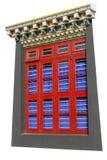 Βουδιστικά παράθυρα Στοκ Φωτογραφία