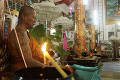 Βουδιστικά τελετουργικά στοκ εικόνες