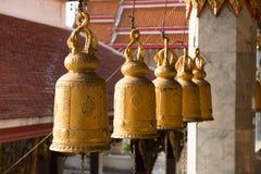 Βουδιστικά χρυσά κουδούνια Στοκ Φωτογραφία