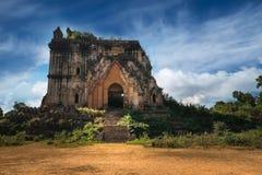 Βουδιστικές καταστροφές ναών στην πόλη Inwa Το Μιανμάρ (Βιρμανία) Στοκ Φωτογραφία