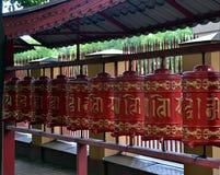 βουδιστικές ρόδες προσευχής Στοκ Φωτογραφίες