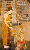 Βουδιστικές τοιχογραφίες Στοκ φωτογραφίες με δικαίωμα ελεύθερης χρήσης