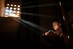 Βουδιστική διδασκαλία, το Μιανμάρ. Στοκ φωτογραφίες με δικαίωμα ελεύθερης χρήσης