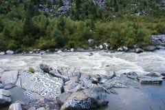 Βουδιστική κοιλάδα ποταμών Scripture στοκ εικόνες