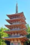 Βουδιστική παγόδα πολυθρυλήτων πέντε στο ναό Daigoji Στοκ Φωτογραφίες