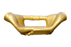 βουδιστική χρυσή περισυλλογή χεριών Στοκ φωτογραφία με δικαίωμα ελεύθερης χρήσης