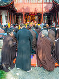 Βουδιστικοί μοναχοί σε Suzhou Στοκ φωτογραφία με δικαίωμα ελεύθερης χρήσης
