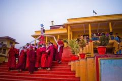 Βουδιστικοί μοναχοί του μοναστηριού Gyuto, Dharamshala, Ινδία Στοκ Φωτογραφία