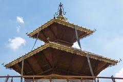 Βουδιστικός ασιατικός ναός στο περίπτερο του Νεπάλ στην έκθεση 2 του Μιλάνου Στοκ εικόνες με δικαίωμα ελεύθερης χρήσης