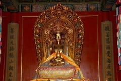 βουδιστικός ναός Άγαλμα του Βούδα --Ναός Yonghe, Πεκίνο, Κίνα Στοκ Φωτογραφία