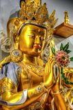 βουδιστικός ναός αγαλμά&ta Στοκ Εικόνα