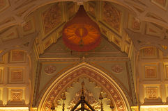 Βουδιστικός ναός η αρχιτεκτονική της εκκλησίας (Wat Niwet Thamma Στοκ Εικόνες