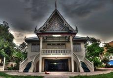 Βουδιστικός ναός στην Ταϊλάνδη κοντά σε Amphawa Στοκ Φωτογραφία