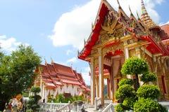 βουδιστικός ναός Ταϊλάνδη chalong wat Στοκ Φωτογραφίες
