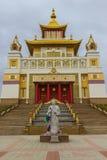Βουδιστικός ναός της Καλμουκίας Elista στοκ φωτογραφία