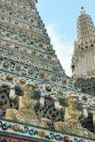 Βουδιστικός ναός Arun Wat, Μπανγκόκ, Ταϊλάνδη - λεπτομέρεια Στοκ Φωτογραφίες