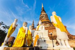 Βουδιστικός ναός Ayutthaya Στοκ εικόνα με δικαίωμα ελεύθερης χρήσης
