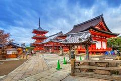 Βουδιστικός ναός kiyomizu-Dera στο Κιότο, Ιαπωνία Στοκ εικόνες με δικαίωμα ελεύθερης χρήσης