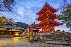 Βουδιστικός ναός kiyomizu-Dera στο Κιότο, Ιαπωνία Στοκ Φωτογραφία