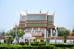 Βουδιστικός ναός Sraket Rajavaravihara Wat της Μπανγκόκ Ταϊλάνδη 00 Στοκ φωτογραφία με δικαίωμα ελεύθερης χρήσης