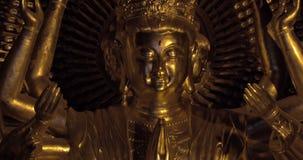 Βουδιστικό άγαλμα Quan AM Bai Dinh στο ναό, Βιετνάμ απόθεμα βίντεο
