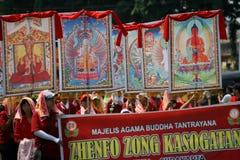 Βουδιστικό θρησκευτικό τελετουργικό Στοκ Φωτογραφίες