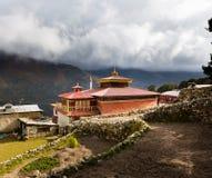 Βουδιστικό κτήριο μοναστηριών, χωριό Pangboche, Νεπάλ Στοκ εικόνες με δικαίωμα ελεύθερης χρήσης