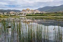 Βουδιστικό μοναστήρι στην Κίνα Στοκ Εικόνες
