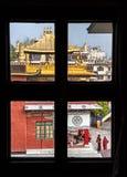 βουδιστικό μοναστήρι Στοκ φωτογραφία με δικαίωμα ελεύθερης χρήσης