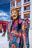 Βουδιστικό μυστήριο χορού Cham μοναχών σε Lamayuru, Ινδία Στοκ Εικόνες