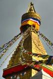 Βουδιστικό stupa Boudhanath. Κατμαντού, Νεπάλ Στοκ Εικόνα