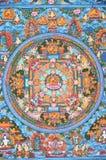 βουδιστικό thangka Θιβετιανός Στοκ Εικόνες