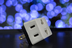 Βουλώματα δύναμης και μια υποδοχή Επιλογή με τη φιλελευθεροποίηση της ηλεκτρικής ενέργειας Στοκ εικόνα με δικαίωμα ελεύθερης χρήσης