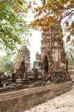 Βούδας και ναός στην Ταϊλάνδη Στοκ Φωτογραφία