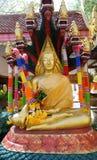 Βούδας με τους προϊσταμένους Naga που διαμορφώνει μια προστατευτική κωνικότητα γύρω στοκ εικόνες με δικαίωμα ελεύθερης χρήσης