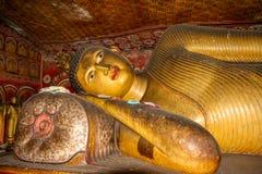 Βούδας που καθορίζει σε Dambulla Στοκ Εικόνες