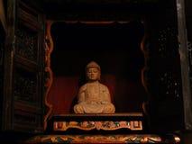Βούδας σε ένα κατάστημα τσαγιού στη Μπανγκόκ Ταϊλάνδη στοκ εικόνες με δικαίωμα ελεύθερης χρήσης