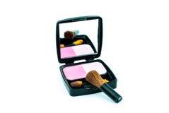 Βούρτσα και καλλυντικά Makeup Στοκ Φωτογραφία