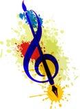 Βούρτσα και μουσική τέχνης ελεύθερη απεικόνιση δικαιώματος