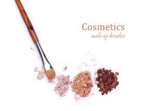 Βούρτσα και σκιές Makeup στοκ φωτογραφίες με δικαίωμα ελεύθερης χρήσης