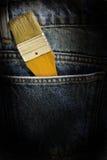 βούρτσα μέσα στην τσέπη χρωμά&t Στοκ Φωτογραφίες