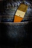 βούρτσα μέσα στην τσέπη Στοκ Φωτογραφία