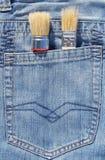 Βούρτσα στην τσέπη Στοκ φωτογραφία με δικαίωμα ελεύθερης χρήσης