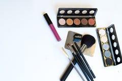 Βούρτσες και εργαλεία Makeup Στοκ Εικόνα