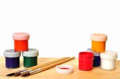 Βούρτσες και χρώμα. Στοκ εικόνα με δικαίωμα ελεύθερης χρήσης